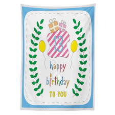 13th Birthday Gifts Tablecloth