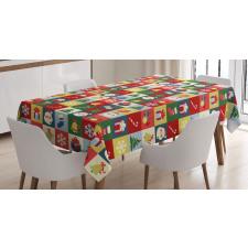 Santa Surprise Boxes Tablecloth