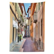 Avrupa Masa Örtüsü Kuzey İtalya Pastel Binalar