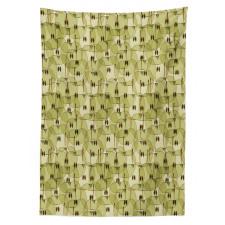 Abstract Autumn Garden Tablecloth