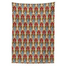 Abstract Orchid Motif Tablecloth