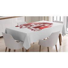 18 Wheeler Silhouette Tablecloth