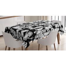 Devil Spray Cans Tablecloth