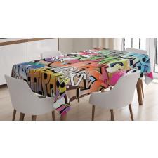 Blockbuster Tags Tablecloth