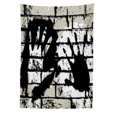 Stencil Sprayed Tablecloth