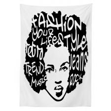 Afro Hair Art Tablecloth