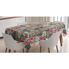 Hearty Love Art Tablecloth