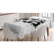 Ink Splash Love Tablecloth