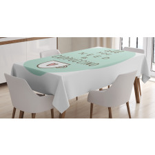 Coffee Words Heart Tablecloth