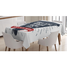Grunge Pizza Slice Tablecloth