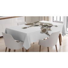 Rhino Dots Silhouette Tablecloth