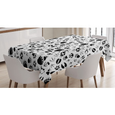Footprints of Animals Tablecloth