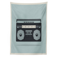 1980s Boombox Image Tablecloth