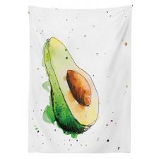 Avokado Masa Örtüsü Taze Sağlıklı Meyvenin İllüstrasyonu Model