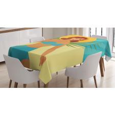 1950s Style Bikini Tablecloth