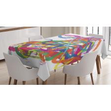 Abstract Art Dancer Tablecloth