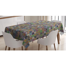 Colorful Graphic Foliage Tablecloth