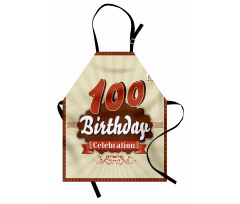 100 Old Party Invite Apron