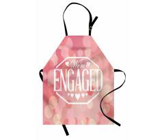 Mutfak Önlüğü Kalpli Nişan Desenli