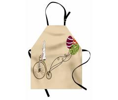 Mutfak Önlüğü Bisikletli Tavşan