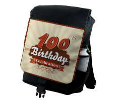 100 Old Party Invite Backpack