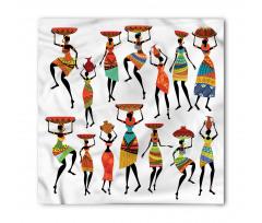 Afrika Bandana Etnik Kültür Folk Yerli Kadın Figürleri