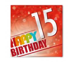 15th Birthday Concept Bandana