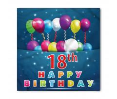 18 Birthday Balloons Bandana
