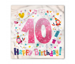 10 Years Kids Birthday Bandana