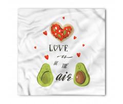 Avokado Bandana Birbirlerine Aşık İki Sağlıklı Meyve Çift