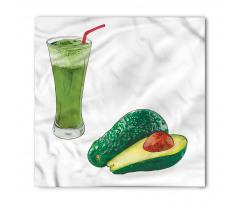 Avokado Bandana Sağlıklı Meyve ve Ondan Yapılmış İçecek