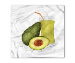 Avokado Bandana Sağlıklı Meyve ve Suyundan İçecek Model