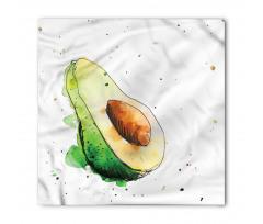 Avokado Bandana Taze Sağlıklı Meyvenin İllüstrasyonu Model
