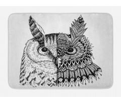 2 Animal Faces Design Bath Mat