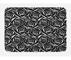 Abstract Art Rose Flowers Bath Mat