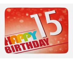 15th Birthday Concept Bath Mat