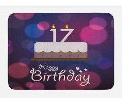 17 Party Cake Bath Mat