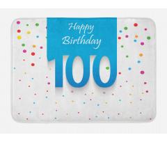 100 Years Birthday Bath Mat