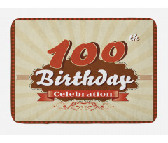 100 Old Party Invite Bath Mat