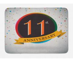 11 Year Retro Style Bath Mat