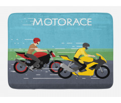2 Bikers Racing Bath Mat