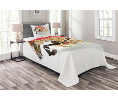 Abstract Art Wild Horse Bedspread Set