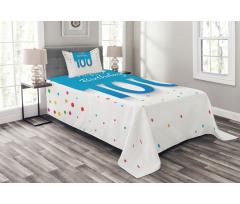 100 Years Birthday Bedspread Set