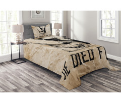 Nailed Legs Hand Drawn Bedspread Set