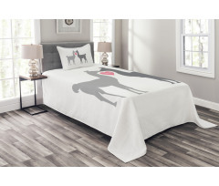 2 Animals in Love Bedspread Set