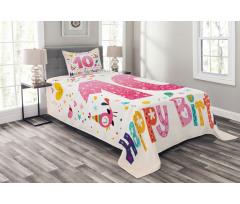 10 Years Kids Birthday Bedspread Set