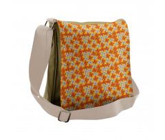 Abstract Autumn Flora Messenger Bag