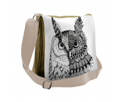 2 Animal Faces Design Messenger Bag
