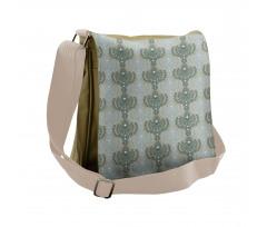 Abstract Art Floral Messenger Bag