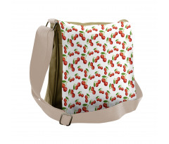 Cherry Fruit Pattern Messenger Bag